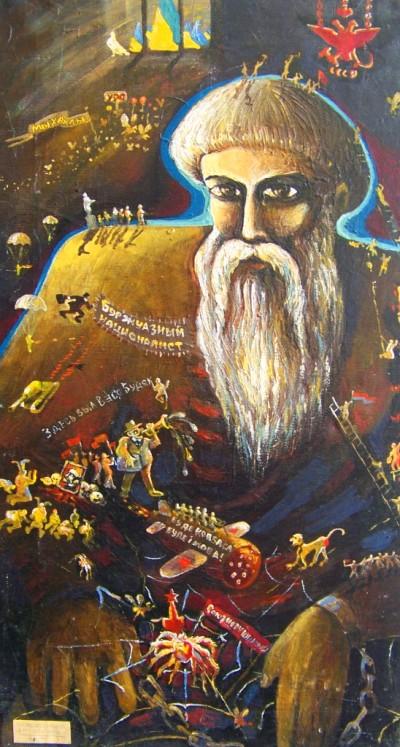 """Картина """"Соловецький в'язень"""" (1991), олія - 78x43"""