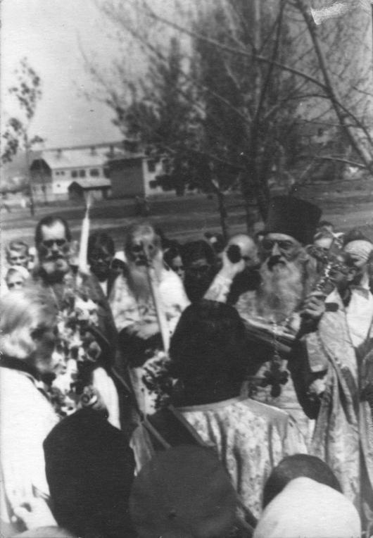 Молебень у Райгородку. Фото кінця 40-х. рр.