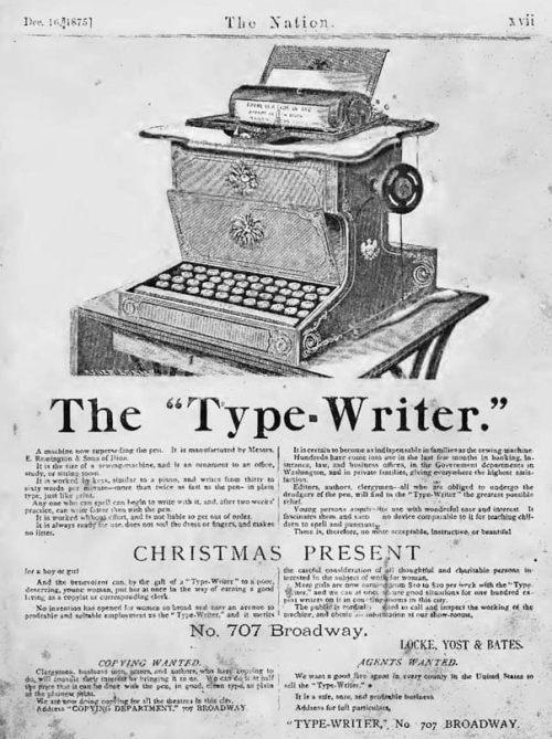 Перша печатна машинка